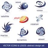 вектор икон установленный логосами Стоковые Фото