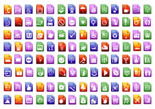 вектор икон colorfull Стоковое Фото