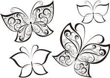 вектор иллюстрации бабочки Стоковое Изображение RF