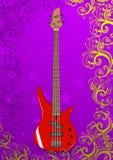 вектор иллюстрации басовой гитары Стоковое Изображение RF