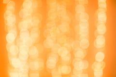 вектор иллюстрации гирлянды рождества карточки предпосылки Красочная желтая предпосылка Bokeh de сфокусировала блестящие света Ко Стоковое Изображение RF