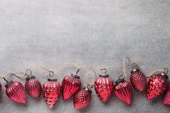 вектор иллюстрации гирлянды рождества карточки предпосылки Стоковые Фото