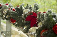 вектор иллюстрации гирлянды рождества карточки предпосылки Стоковое Фото