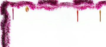 вектор иллюстрации гирлянды рождества карточки предпосылки Изолированное фото Стоковая Фотография RF