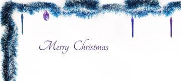вектор иллюстрации гирлянды рождества карточки предпосылки Изолированное фото Стоковая Фотография