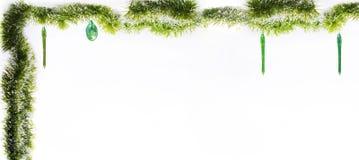 вектор иллюстрации гирлянды рождества карточки предпосылки Изолированное фото Стоковое Фото