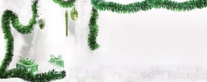вектор иллюстрации гирлянды рождества карточки предпосылки Изолированное фото Стоковое фото RF