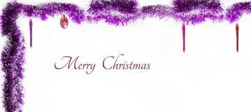 вектор иллюстрации гирлянды рождества карточки предпосылки Изолированное фото Стоковые Фото