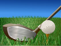 вектор иллюстрации гольфа стоковые изображения