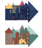 вектор иллюстрации города милый Стоковые Изображения RF