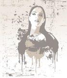 вектор иллюстрации девушки славный Стоковые Фотографии RF