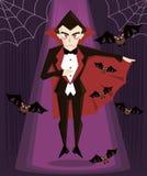 вектор иллюстрации Дракула halloween характера Стоковое Изображение RF