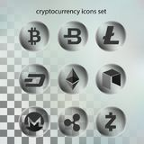 Вектор иллюстрации значка cryptocurrency в прозрачном пузыре на прозрачной предпосылке бесплатная иллюстрация