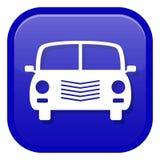 вектор иллюстрации иконы автомобиля eps10 Вид спереди стоковые фото