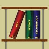 вектор иллюстрации книжных полок искусства Стоковые Фото