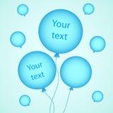вектор иллюстрации конструкции воздушных шаров ваш Стоковые Фотографии RF