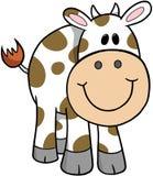 вектор иллюстрации коровы Стоковые Фотографии RF