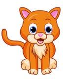 вектор иллюстрации кота шаржа милый иллюстрация штока