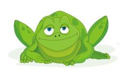 вектор иллюстрации лягушки шаржа Стоковые Фото