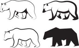 вектор иллюстрации медведя Стоковые Фотографии RF