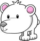 вектор иллюстрации медведя приполюсный Стоковое Изображение
