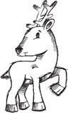 вектор иллюстрации оленей рождества схематичный иллюстрация вектора