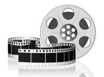 вектор иллюстрации пленки переплетенный кино Стоковые Изображения