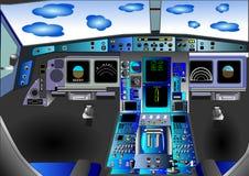 вектор иллюстрации полета палубы кокпита стоковое изображение