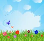 вектор иллюстрации предпосылки экологический Стоковое Изображение
