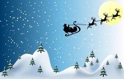 вектор иллюстрации рождества карточки веселый Стоковое Изображение RF