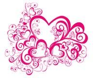 вектор иллюстрации сердца кружевной Стоковое Фото