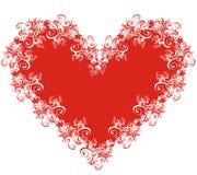 вектор иллюстрации сердца кружевной Стоковые Изображения RF