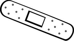 вектор иллюстрации слипчивой повязки bandaid иллюстрация вектора
