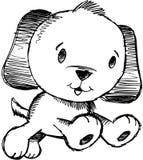 вектор иллюстрации собаки схематичный Стоковое Фото