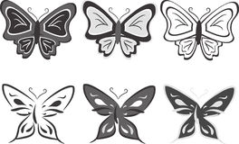 вектор иллюстрации собрания бабочек Стоковое фото RF