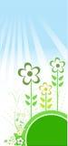вектор иллюстрации травы цветков Стоковая Фотография RF