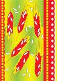 вектор иллюстрации уха хлеба Стоковые Изображения RF