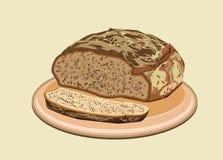 вектор иллюстрации хлеба Стоковые Изображения