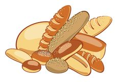 вектор иллюстрации хлеба Стоковые Фото
