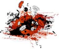 вектор иллюстрации цветка Стоковые Фотографии RF