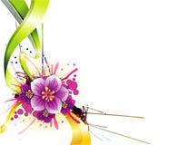 вектор иллюстрации цветка Стоковое Фото