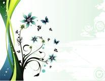 вектор иллюстрации цветка Стоковое Изображение