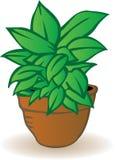 вектор иллюстрации flowerpot Стоковое Изображение RF