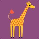 вектор иллюстрации giraffe Стоковые Изображения RF