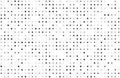 вектор иллюстрации halftone grunge предпосылки Градиент цифров Поставленная точки картина с кругами, точками, указывает малое и б Стоковое Изображение RF