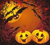 вектор иллюстрации halloween предпосылки Стоковое Изображение RF