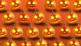 вектор иллюстрации halloween установленный тыквами видеоматериал