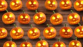 вектор иллюстрации halloween установленный тыквами бесплатная иллюстрация