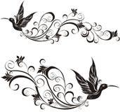 вектор иллюстрации hummingbird Стоковые Изображения RF