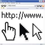 вектор интернета браузера Стоковые Изображения